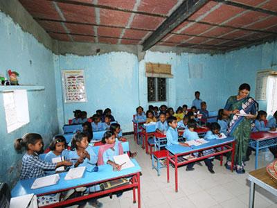 Enseñanza a Niños en la India
